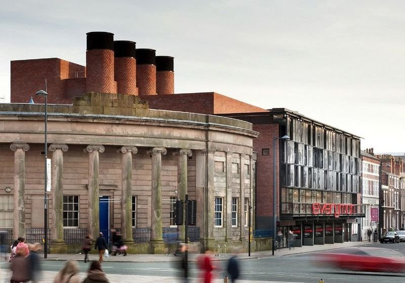 The 2014 Stirling Prize winner by Haworth Tompkins was the Everyman Theatre in Liverpool which made great use of recycled materials and natural ventilation.