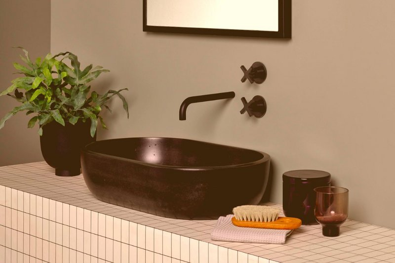 The Poured Project's Ark is the newest addition to its basin range. Available in a variety of colours, it is shown here in Black.