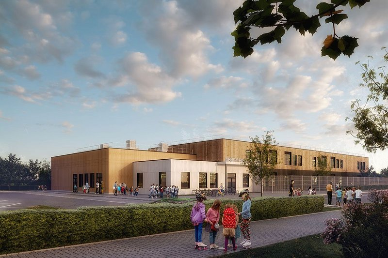 Abbey Farm Educate Together is the first project through the MMC offsite framework to be delivered by Reds10 and designed by HLM Architects.