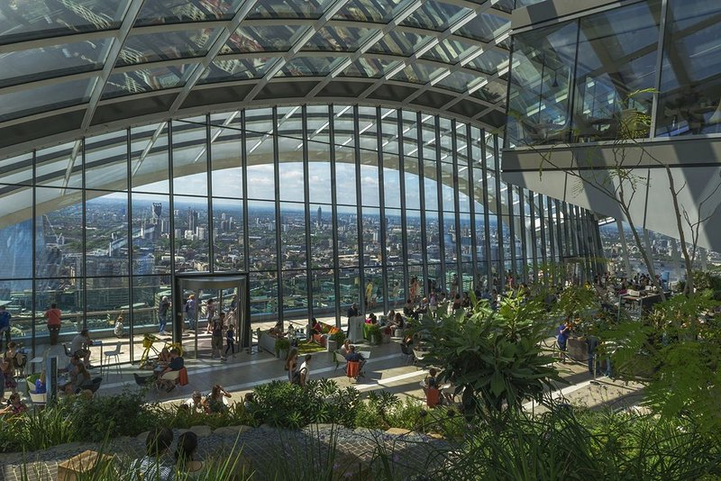 20 Fenchurch Street Sky Garden designed by Rafael Viñoly