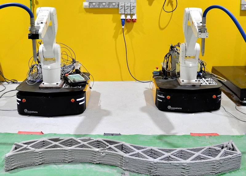 NTU is showing that moving robots have the potential to build on site rather than in the factory.