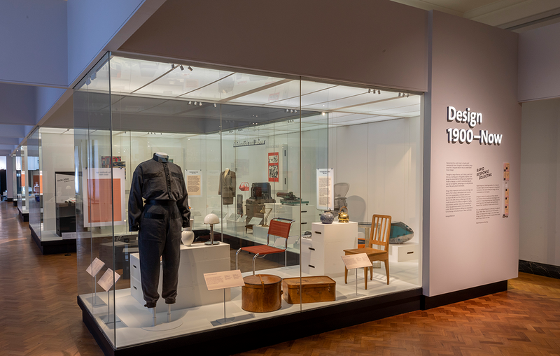 Installation shot of the Design 1900 – Now gallery at the V&A, a new permanent gallery that replaces the previous 20th century display.