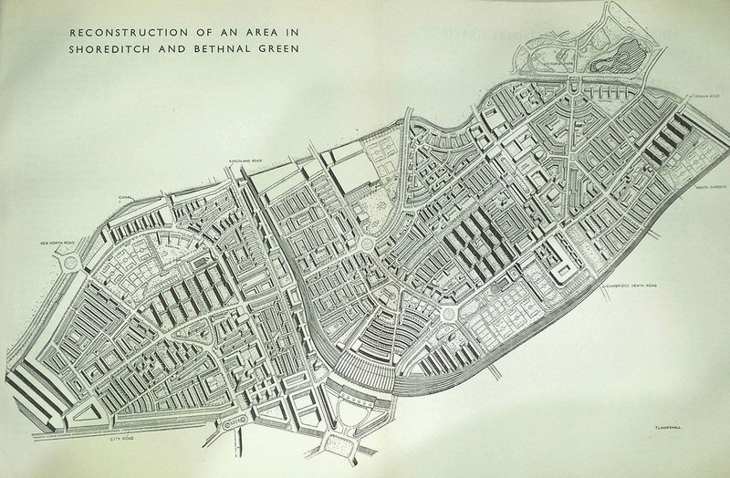 After the Blitz the 1943 County of London Plan envisaged a new East End.
