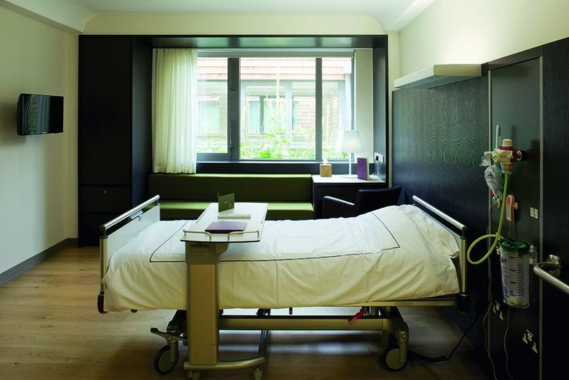Typical patient bedroom.