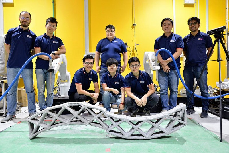 The Nanyang Technological University team.