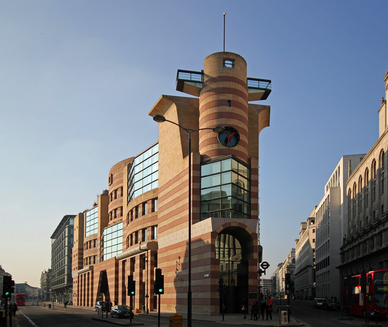 No 1 Poultry, London, James Stirling Michael Wilford and Associates.