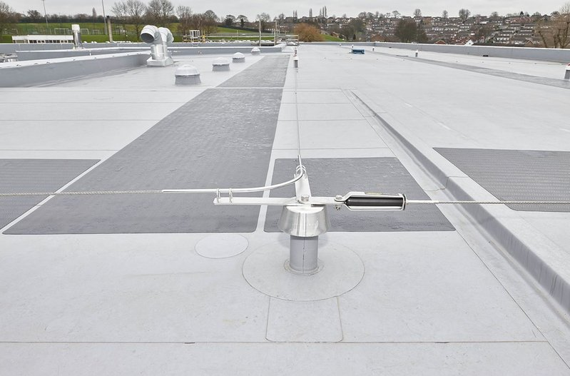 Single ply roof at Arnold Hill Academy, Nottingham.