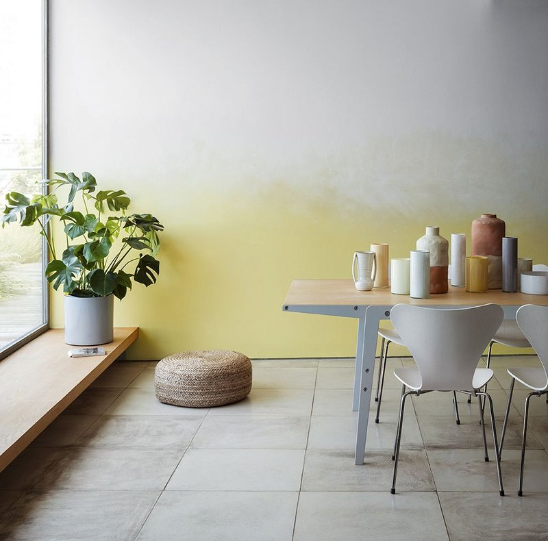 Crown Paints' new 'Stillness' colour collection in the Colour Influences range features soothing shades of yellow fading into architectural greys.