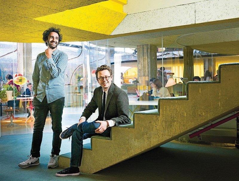 Rohan Silva (left) and Sam Aldenton at Spitalfields.