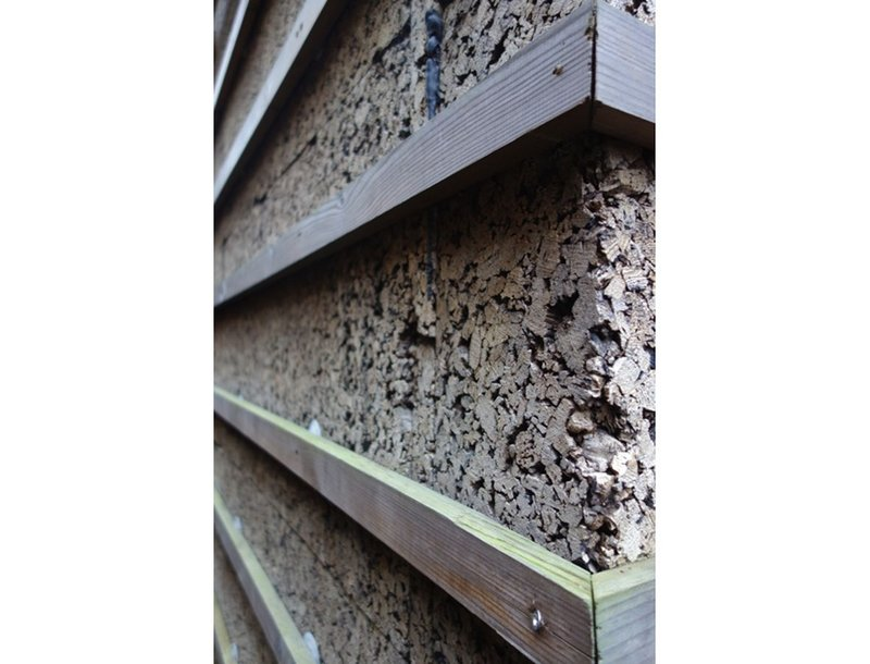 External cork insulation of a Victorian end-terraced house in south London by Venner Lucas Architects.