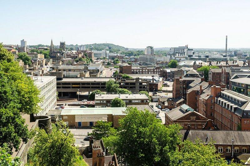 Nottingham city centre, awaiting the Heatherwick treatment.