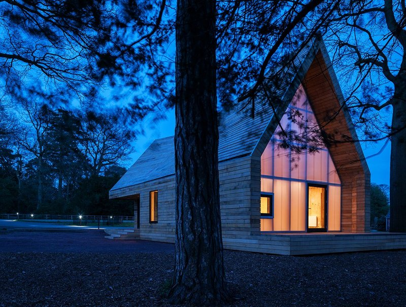 APRES identified Westonbirt Arboretum's Wolfson Tree Management Centre as one place where ethical sourcing had made a significant difference with substantial reductions in carbon and re-use of the client's natural resources. Instead of an off-the-peg steel shed the building designed by Invisible Studio with Buro Happold is timber-framed with logs from the site.