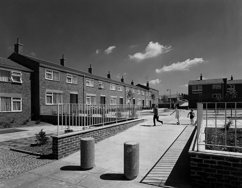 Housing at Willowfield, Harlow, designed by Sir Frederick Gibberd for Harlow Development Corporation, 1965.