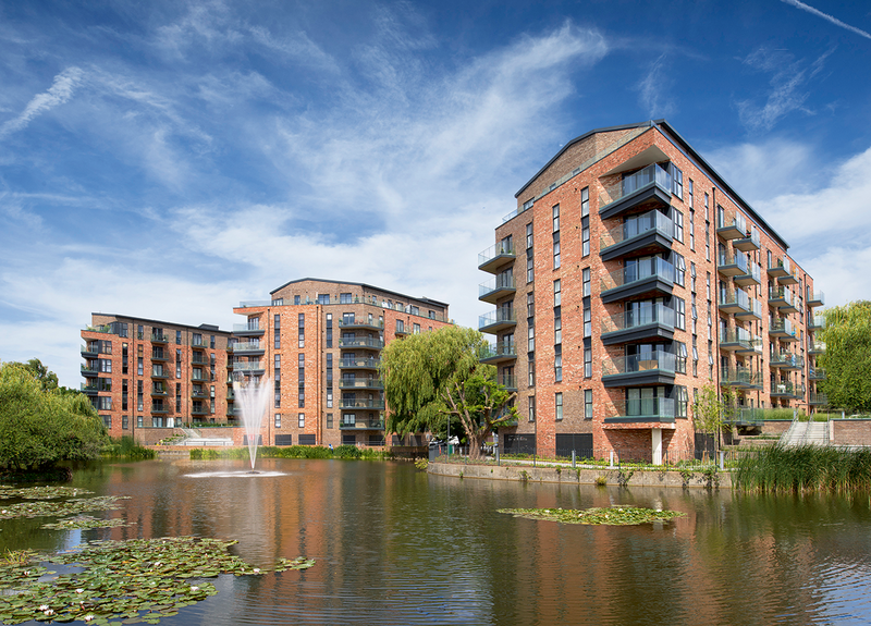 Langley Square features a contrasting blend of Floren Castor and Albion bricks.