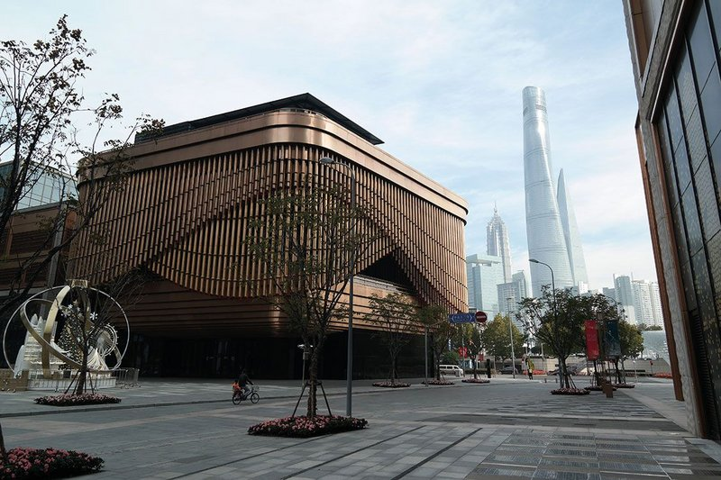 Coppery cultural centre on the Bund.