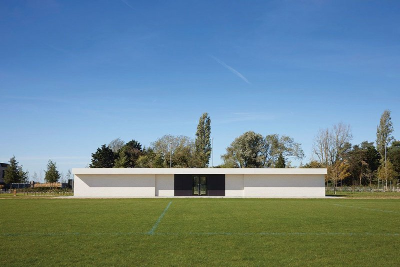 Sports pavilion by Robin Lee Architects at New Eddington, Cambridge.