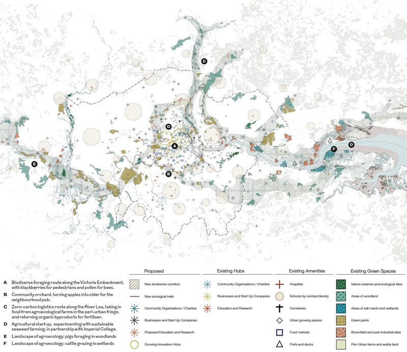 Greater London Agriculture masterplan, designed by Tim Rodber and Dominic Walker, joint winner of RIBA Rethink 2025.