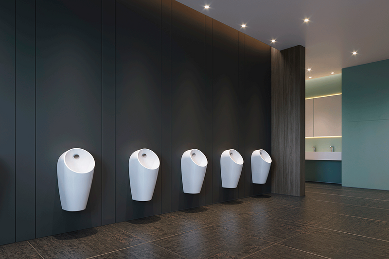 The Sphero urinal from the Washroom Architecture range was designed in partnership with the award-winning Studio Levien and combines the latest water-saving innovations with timeless good looks.