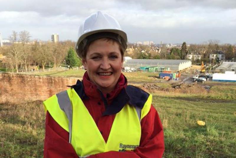 PPWH director Rhona Baillie on site at Bellahouston Park, Glasgow.
