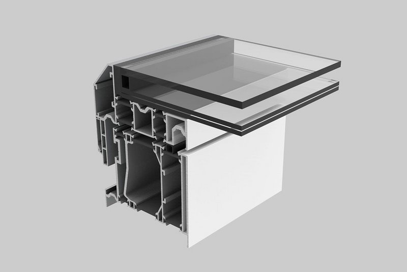 Sunsquare's new Aero Glide sliding skylight features three separate runs of thermal break.