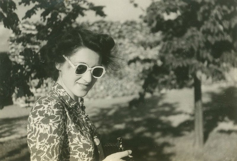 Inette Austin-Smith on a 1946 AA Field Trip to Sweden.
