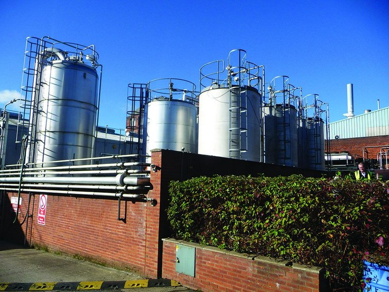 Storage tanks for Sika's sister company Incorez, which produces the chemicals for Liquid Plastics' products.