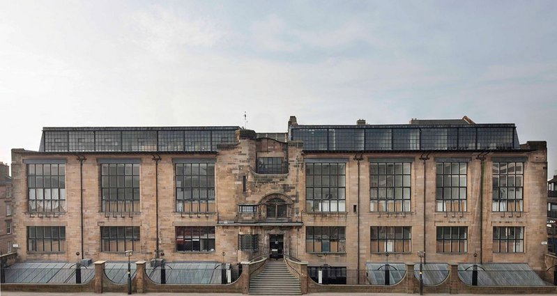 The Mackintosh building before the fire.