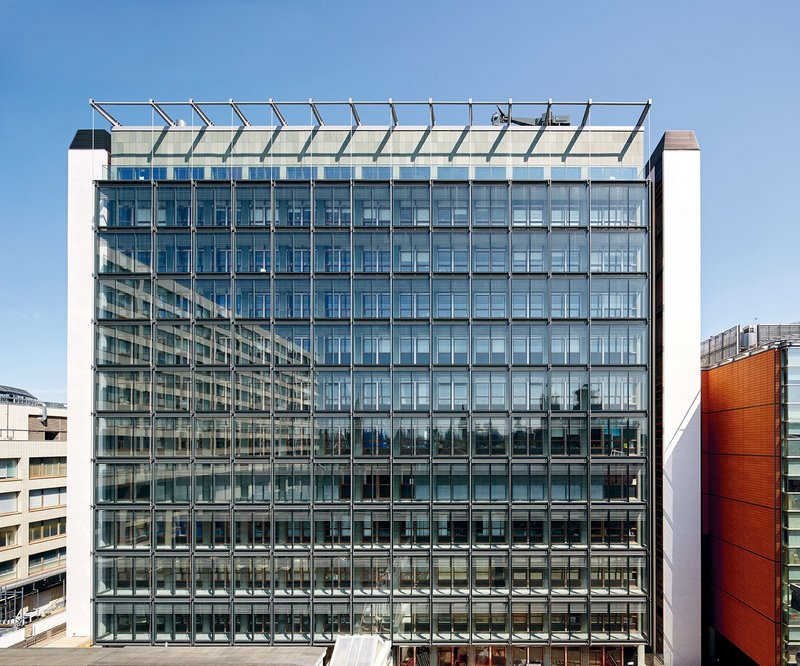 The poorly performing original elevation was repaired and overclad  to create a thermally efficient double-skin facade.