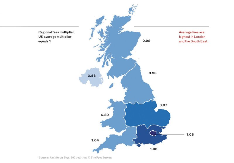 Average fees are highest in London and the South East.