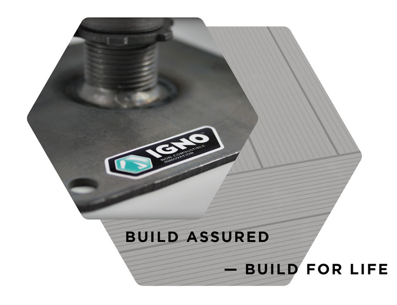 The Ryno IGNO non-combustible range includes decking and paving systems for balconies and terraces.
