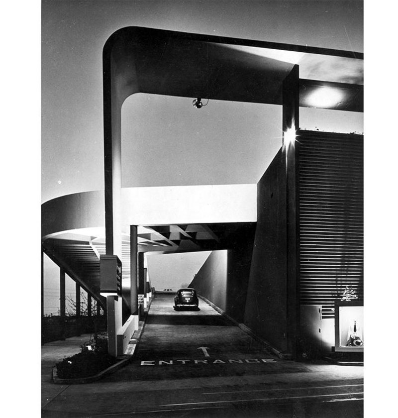 Milliron's department store,   Westchester, California, 1949.