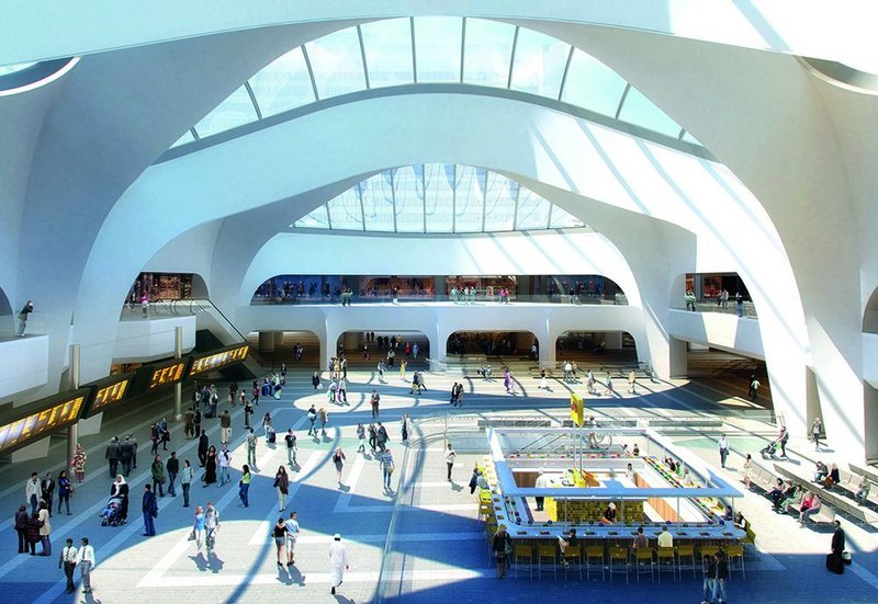 The new ticket hall and atrium of New Street Station is light and generous – a preoccupation of the Victorian terminus engineers.