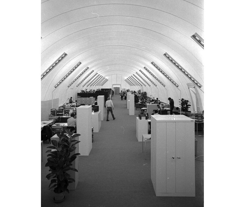 The 10 week crash programme led to Foster's inflatable office for Computer Technology in Hemel Hempstead.