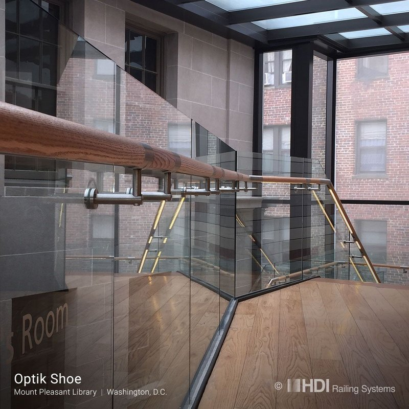 Optik Shoe balustrade design at Mount Pleasant Library, Washington DC.