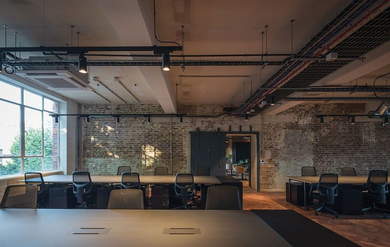 Co-working space at The Ministry.