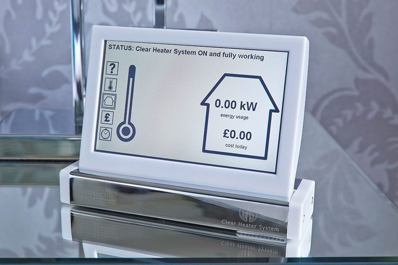 The control panel allows precise control of individual panels either independently or as part of a whole house system.
