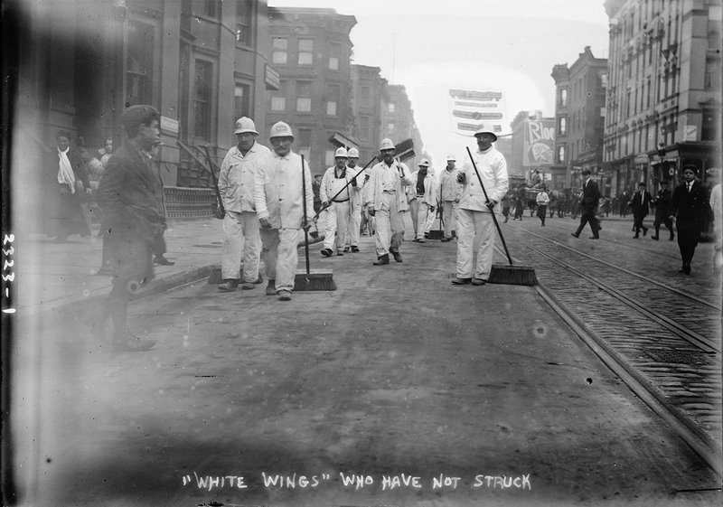 "Bain News Service, ""White Wings"" Who Have Not Struck, November 8 11, 1911, New York."