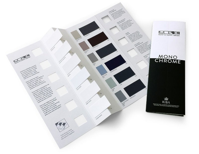The Monochrome paint collection from The Paint & Paper Library: 12 shades for balanced and sophisticated decorating schemes.
