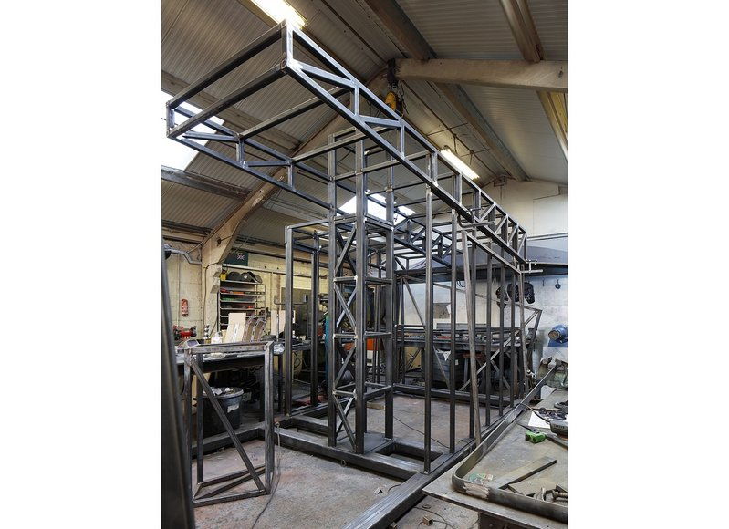 The steel frame of The Mansio under construction.