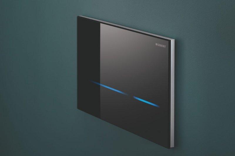Geberit Sigma80 touchless toilet flush plate.