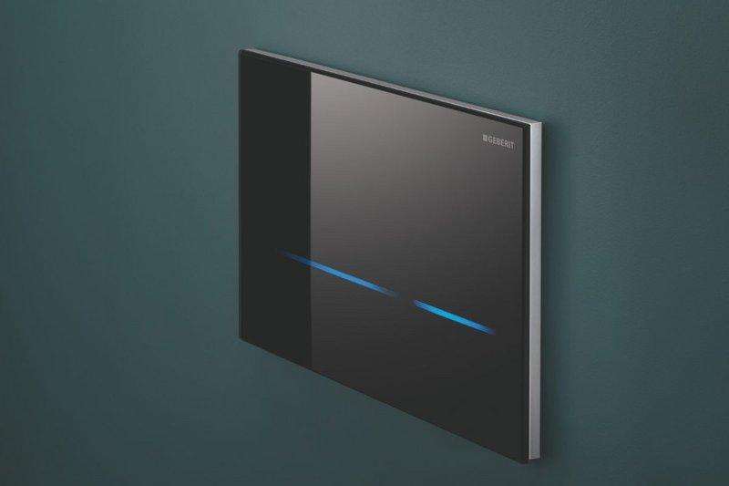 Geberit Sigma80 touchless toilet flush plate.