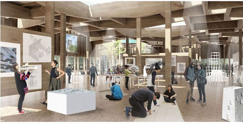 How can we bring urgent sustainability issues into architectural education? Seen here is Grafton Architects imagined Liverpool University's School of Architecture.