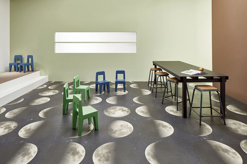 Surestep Moon digitally printed Forbo Step Safety vinyl.