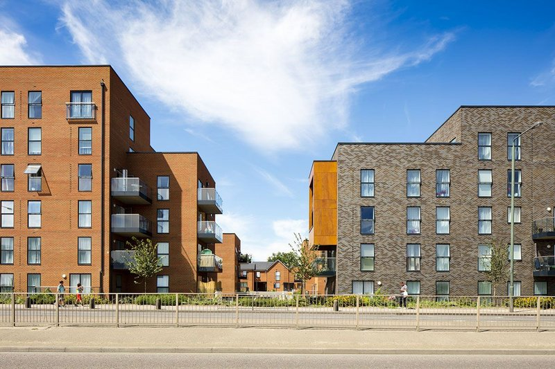 Velfac at Erith Park, south-east London: large glazed units and casement doors feature in the facades of the housing and apartment blocks.
