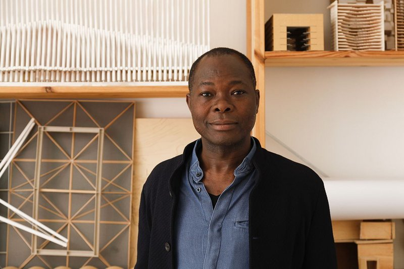 Francis Kéré in his studio in Berlin.