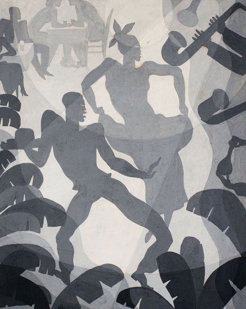 Aaron Douglas, Dance, c. 1930, © Heirs of Aaron Douglas/VAGA at ARS, NY and DACS, London 2019