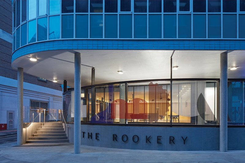 The new Rookery entrance on the south side of Congress House.