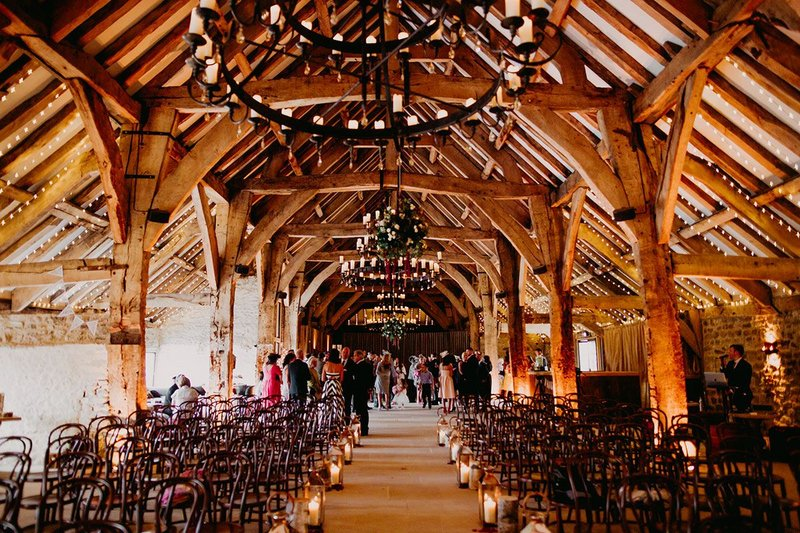 Previously derelict, now an impressive wedding venue. The Great Barn, Bolton Abbey, Skipton. Pearce Bottomley Architects, RIBA regional award and regional conservation award 2019. Credit Gillian Haves