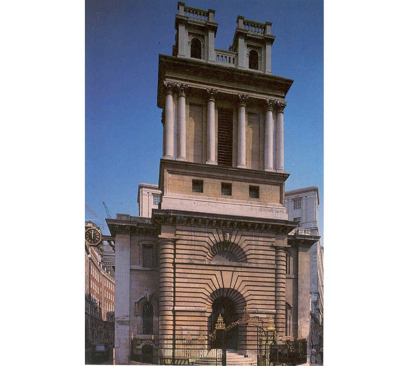 St Mary Woolnoth, London; Nicholas Hawksmoor, 1716-27