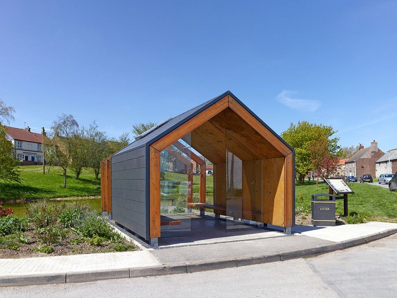To start with the shelters have been produced with OSB and plywood.